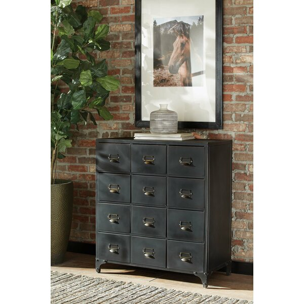 Stowers 12 Drawer Double Dresser by Gracie Oaks