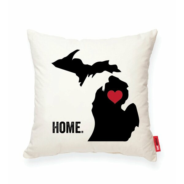 Pettry Michigan Cotton Throw Pillow by Wrought Studio