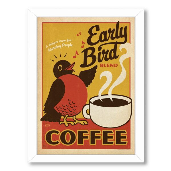Early Bird Framed Vintage Advertisement by East Urban Home