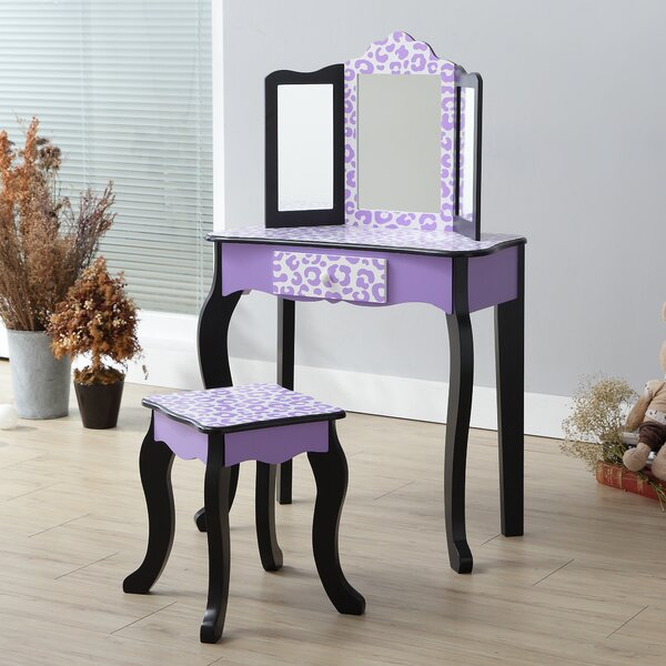 2 Piece Gisele Vanity Set with Mirror by Teamson Kids