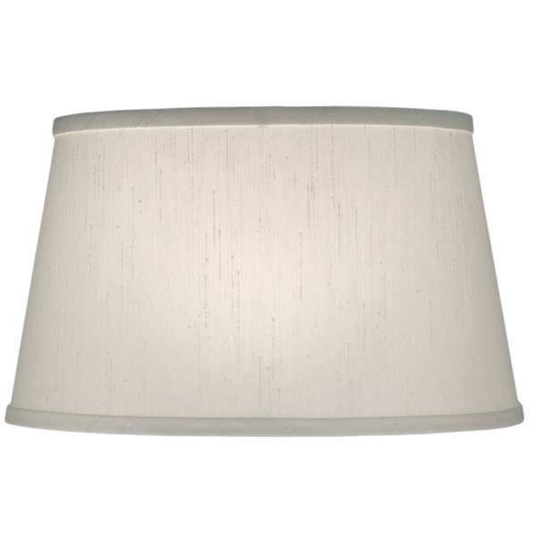 9 H Linen Empire Lamp Shade ( Spider ) in Global White