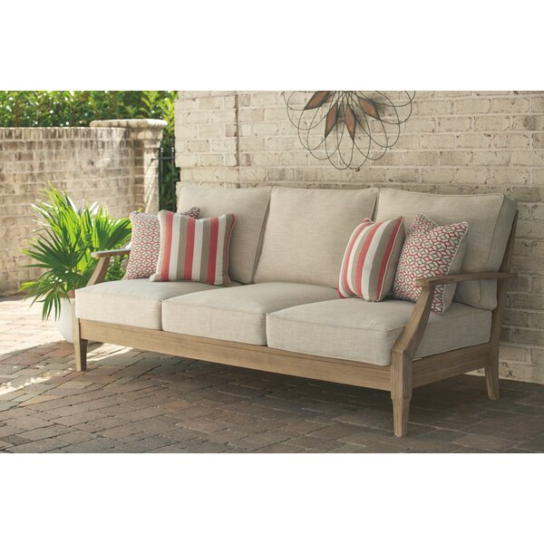 Anguiano Patio Sofa with Cushions by Canora Grey