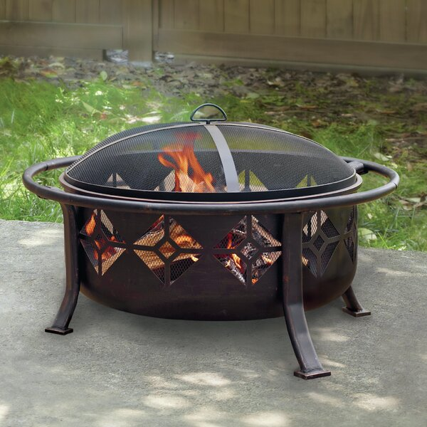 Sunderland Deep Bowl Steel Wood Burning Fire pit by Pleasant Hearth