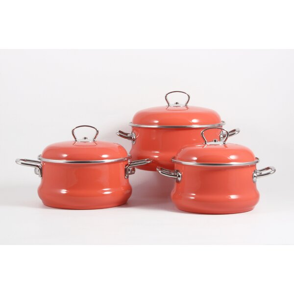 6 Piece Non-Stick Stainless Steel Cookware Set by ELROS