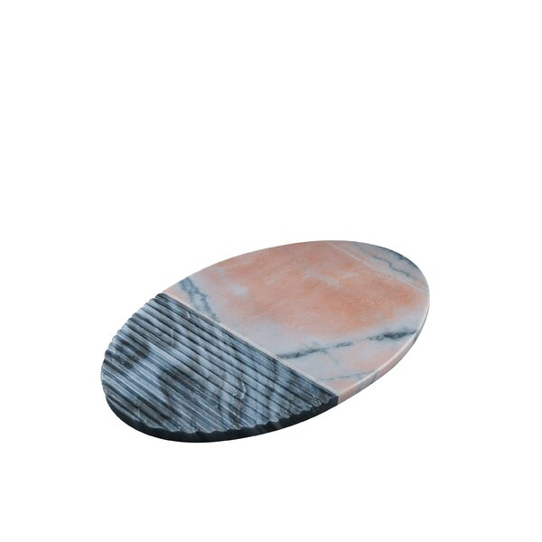 Marble Oval Platter with Ridges by Patina Vie