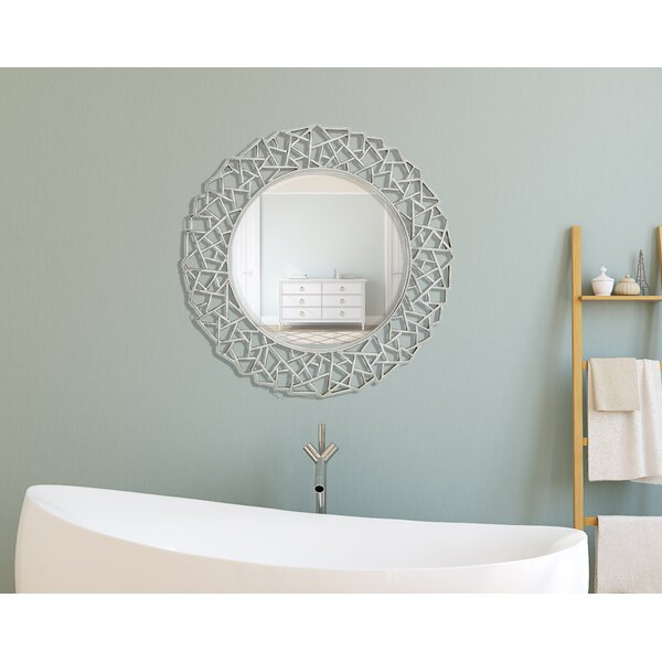 Round Framed Beveled Glass Wall Mirror by Majestic Mirror