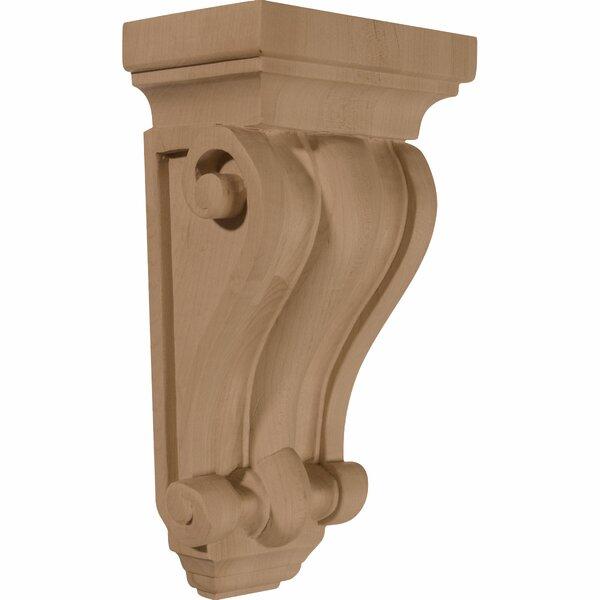Cole 9 1/2H x 5W x 3 1/4D Pilaster Wood Corbel in Alder by Ekena Millwork