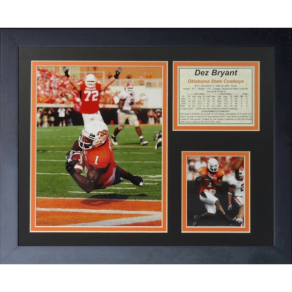 Dez Bryant - OSU Framed Memorabilia by Legends Never Die