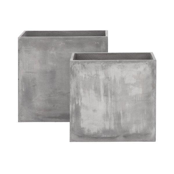 2-Piece FiberClay Planter Box Set by Cole & Grey