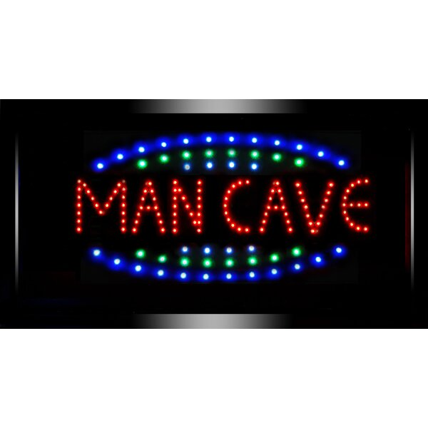 Framed Man Cave LED Marquee Sign by Crystal Art Ga