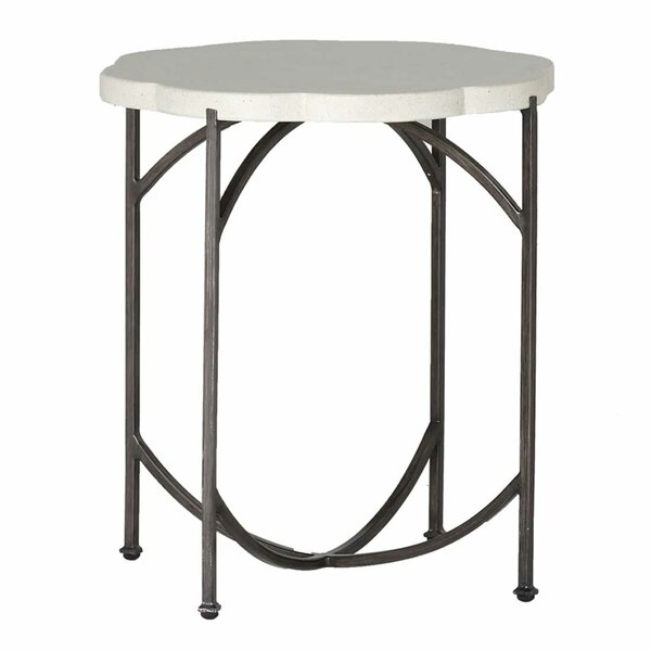 Gillian Stone/Concrete Side Table by Summer Classics
