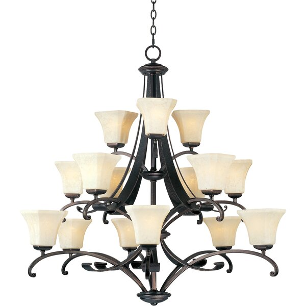 Cottrell 15 - Light Shaded Tiered Chandelier by Darby Home Co Darby Home Co