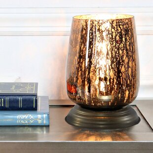 Reviews Slyvia Handblown Curved Glass 7.9 Table Lamp By Winston Porter