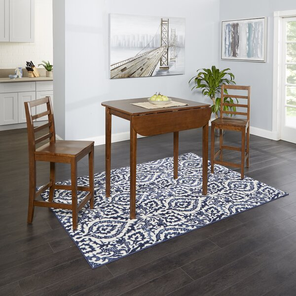 Waltia 3 Piece Drop Leaf Breakfast Nook Dining Set by Winston Porter