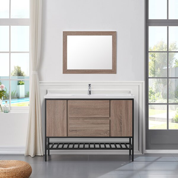 "Memphis 48"" Single Bathroom Vanity Set by Ove Decors"