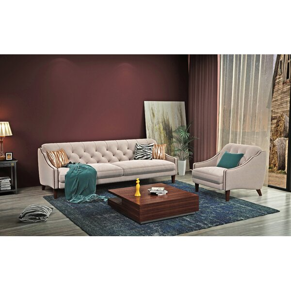 Chamberlain 2 Piece Living Room Set by Rosdorf Park