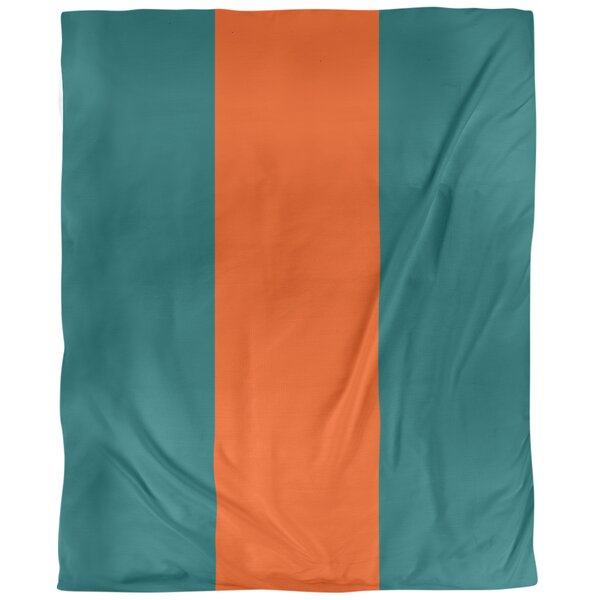 Miami Throwback Arizona Football Stripes Single Duvet Cover