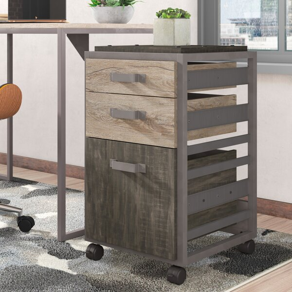 Rosemarie 3 Drawer Mobile Vertical Filing Cabinet by Greyleigh