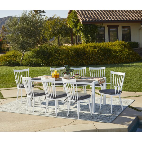 Chenery 9 Piece Indoor/Outdoor Dining Set with Cushions by Alcott Hill