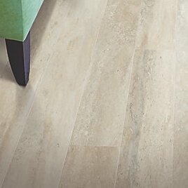 Hanbridge 5.25 x 47.25 x 11.93mm Travertine Laminate Flooring in Cream by Mohawk Flooring