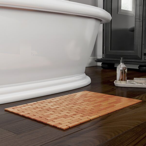Calliope Lattice Rectangle Bamboo Non-Slip Geometric Bath Rug