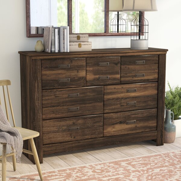 Saint Marys 7 Drawer Dresser with Mirror by Laurel Foundry Modern Farmhouse