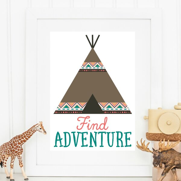 Tribal Find Adventure Paper Print by Love You A Latte Shop