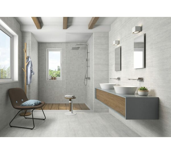 Atrium Moon 12 x 24 Porcelain Field Tile in Perla Gray by QDI Surfaces