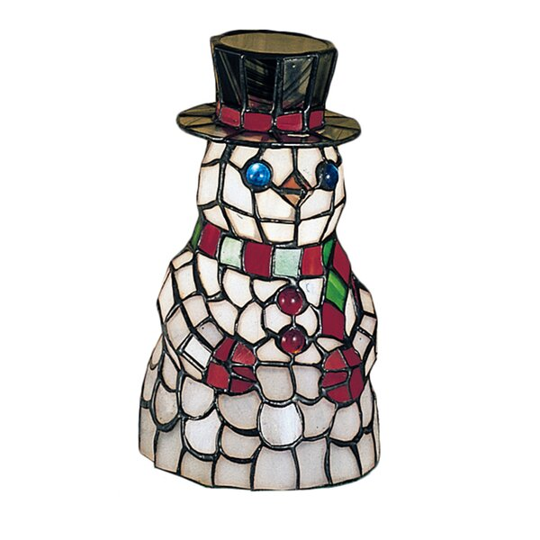 Snowman Tiffany Glass Accent Table Lamp by Meyda Tiffany