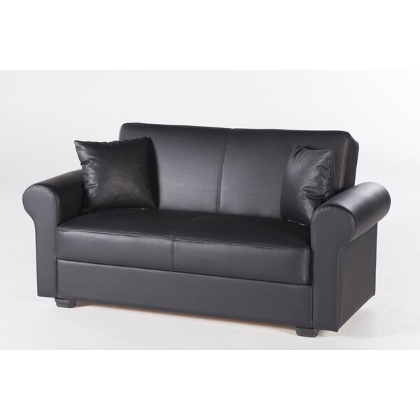 Review Arisdages Convertible 68.5'' Round Arm Loveseat