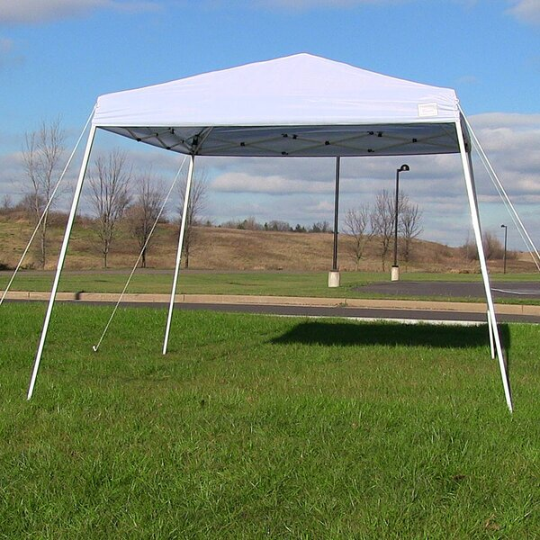 Cotswald Quick-Up Slant Leg 10 Ft. W x 10 Ft. D Steel Pop-Up Canopy by Freeport Park