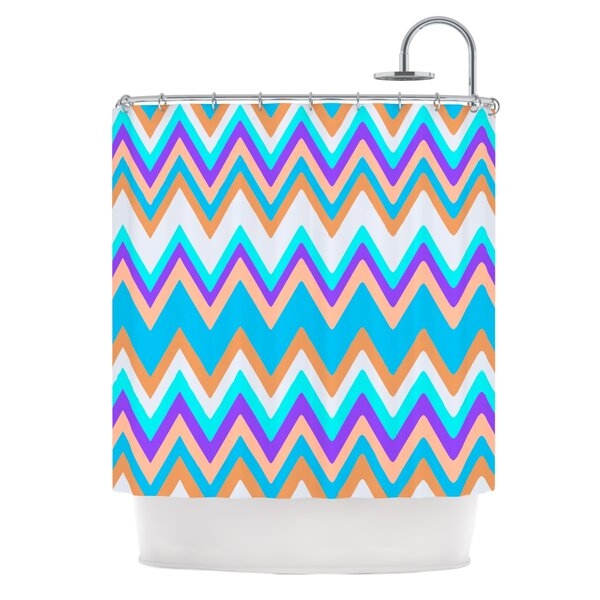 Girly Surf Chevron Shower Curtain by KESS InHouse