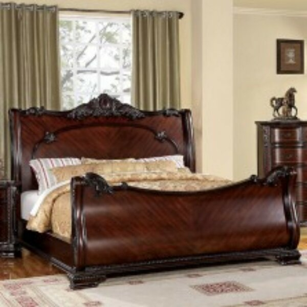 Yancey Luxurious Baroque Platform Bed by Astoria Grand