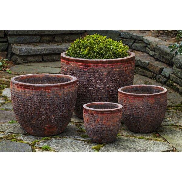 Amina 4 Pieces Terra Cotta Pot Planter Set by Bloomsbury Market