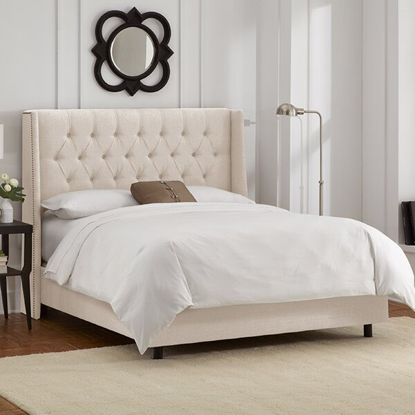Raleigh Upholstered Standard Bed by Skyline Furniture