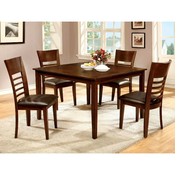 Yoder 5 Piece Solid Wood Dining Set by Alcott Hill Alcott Hill