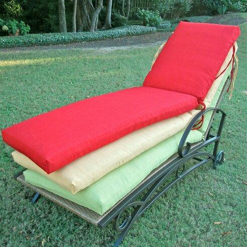Blazing needles outdoor patio chaise lounge cushion wayfair for 23 w outdoor cushion for chaise