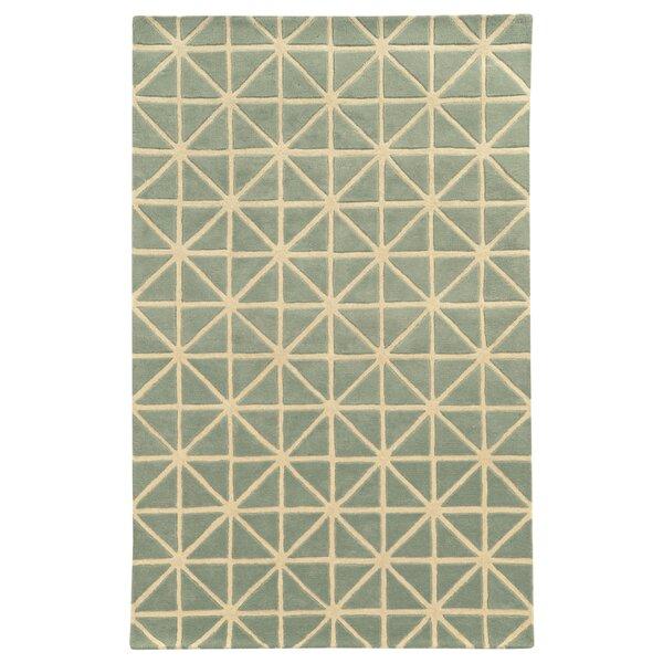 Optic Grey/Ivory Geometric Area Rug by Pantone Universe