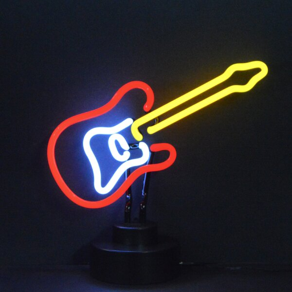 Electric Guitar Neon Sculpture by Neonetics