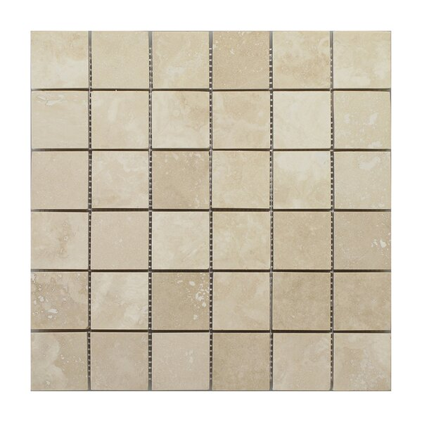 Emperador Light Square 2 x 2 Marble Mosaic Tile in Beige by Seven Seas