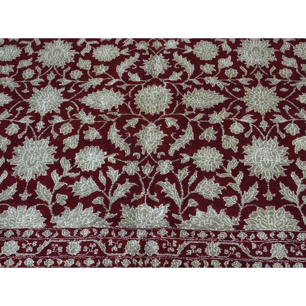 One-of-a-Kind Benally Handwoven Red Wool/Silk Area Rug by Isabelline