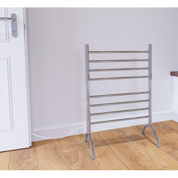 Essential 8-Bar Free Standing Electric Towel Warmer by Ancona