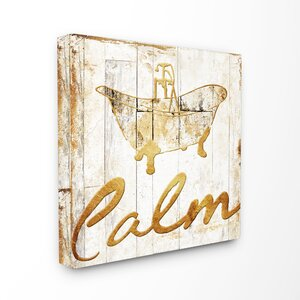 'Calm' Textual Art on Canvas by Stupell Industries