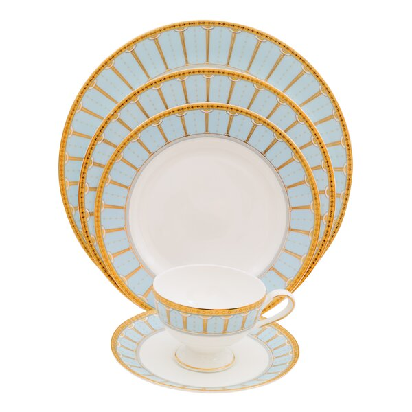 Discovery 5 Piece Bone China Place Setting, Service for 1 (Set of 4) by Shinepukur Ceramics USA, Inc.