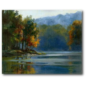 Clum Blue Lake Painting Print on Wrapped Canvas by Courtside Market