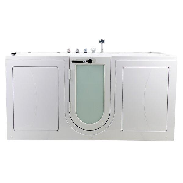 Big4Two 80 x 36 Walk in Whirlpool Bathtub with Fast Fill Faucet by Ella Walk In Baths