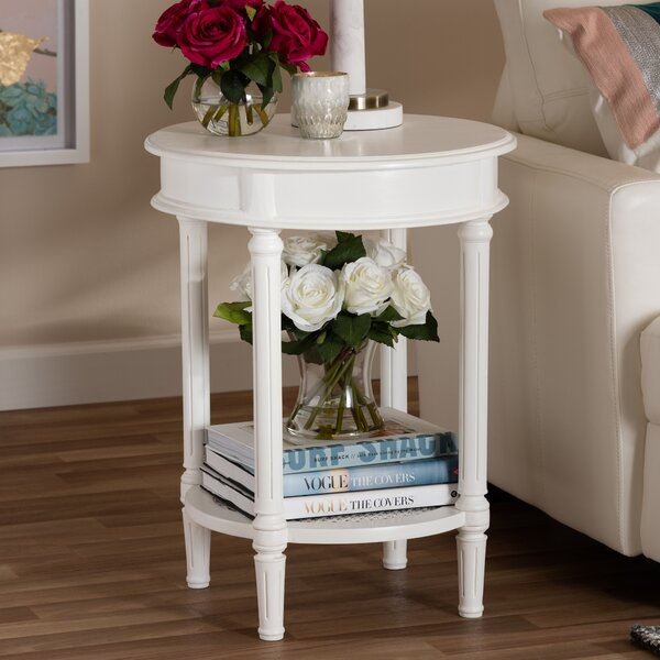 Augie End Table by Highland Dunes