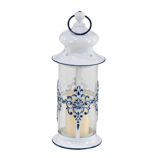 Contemporary Cylindrical Metal Lantern by Charlton Home