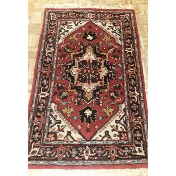 American Home Classic Heriz Rust/Navy Area Rug by American Home Rug Co.