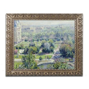 View of the Tuileries by Claude Monet Framed Painting Print by Trademark Fine Art
